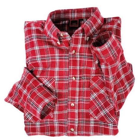 Arbetsskjorta Röd,100% bomull