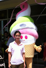 Photo: http://www.BestPartyPlanner.net  artist possing with Menchie's Mascot after a great Face Painting afternoon.