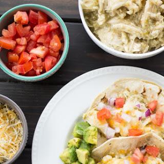 Easiest Crock-Pot Salsa Verde Chicken Tacos