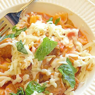 One-Pot Cheesy Pasta and Sausage.