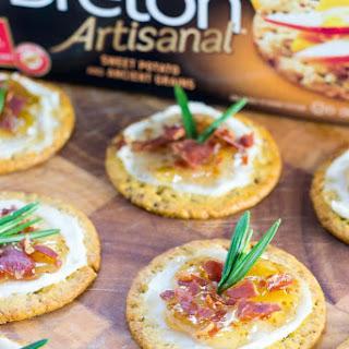 Fig Prosciutto Mascarpone Sweet Potato Crackers.