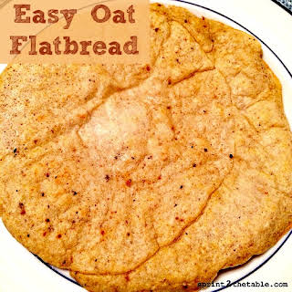 Easy Oat Flatbread.