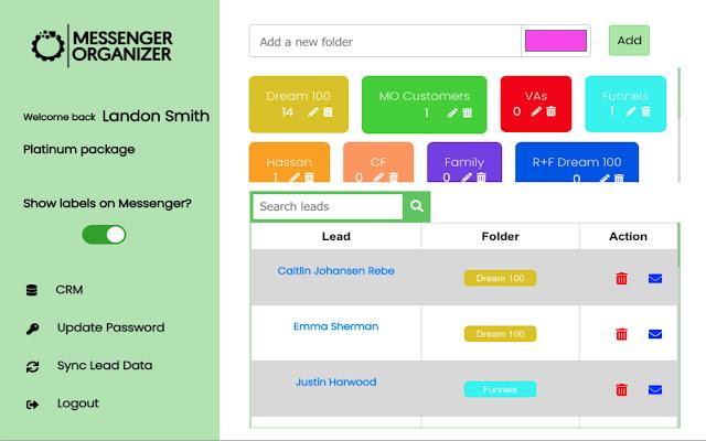 Messenger Organizer