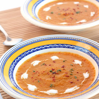 Sweet Potato Soup with Bell Peppers, Lemon & Thyme