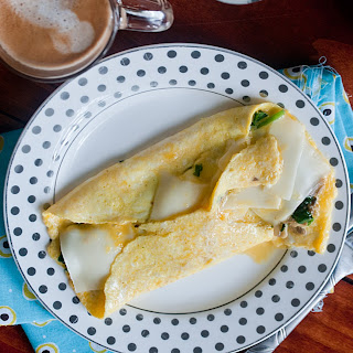 Spinach and Mushroom French Omelets