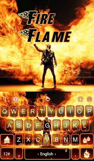 Live 3D Fire Flame Keyboard Theme 6.8.18.2018 screenshots 1