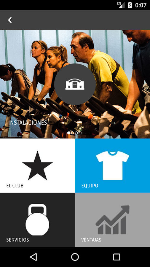 YOU GYM: captura de pantalla