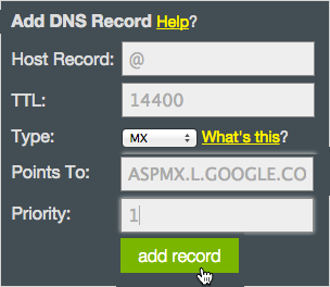 MX Add Record button
