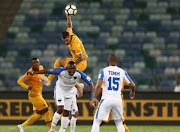 Daniel Cardoso of Kaizer Chiefs and Rhulani Manzini of Chippa United during the Absa Premiership match between Kaizer Chiefs and Chippa United at Moses Mabhida Stadium on November 10, 2018 in Durban, South Africa.