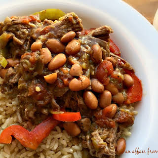 Crock Pot Spicy Steak & Beans.