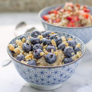 Blueberry Oatmeal with Walnuts
