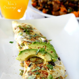 Sweet Potato Black Bean Egg White Omelet.