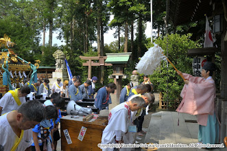 Photo: 【平成24年(2012) 本宮】  清祓いの儀。神輿渡御・山車運行の安全を祈願する。