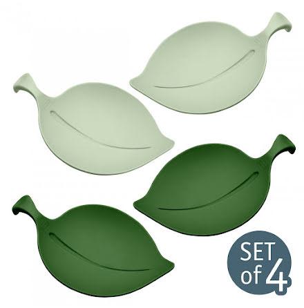 LEAF-ON, Serveringsfat, Grön mix set/4