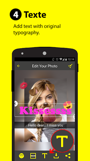 Face snappy - selfie filters : photo edit 2.0 screenshots 4