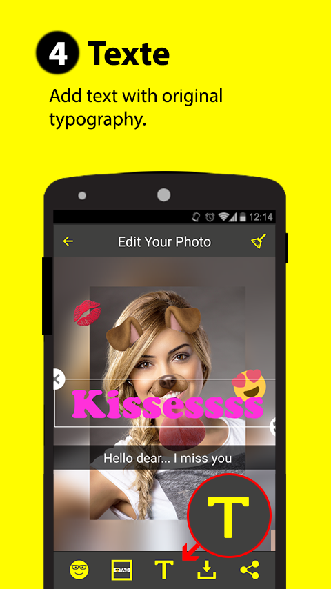 Sticker & Filtre for Snapchat- screenshot