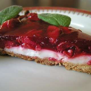 Cherry & Panna Cotta Tart