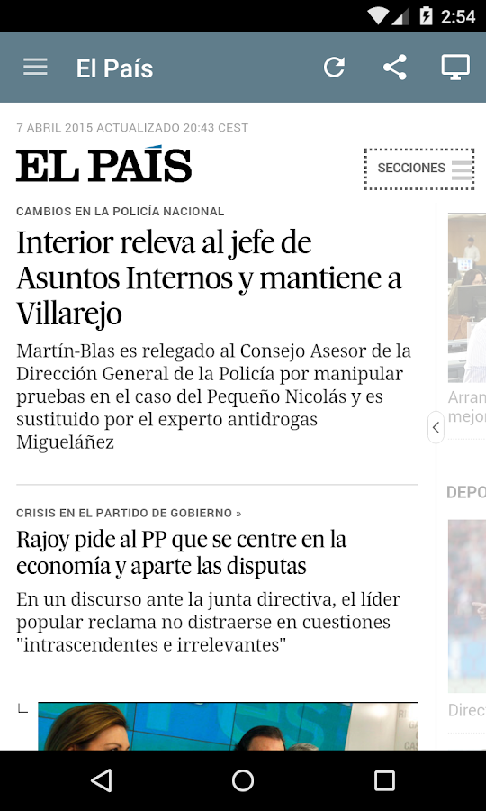 Spanish Newspapers - screenshot