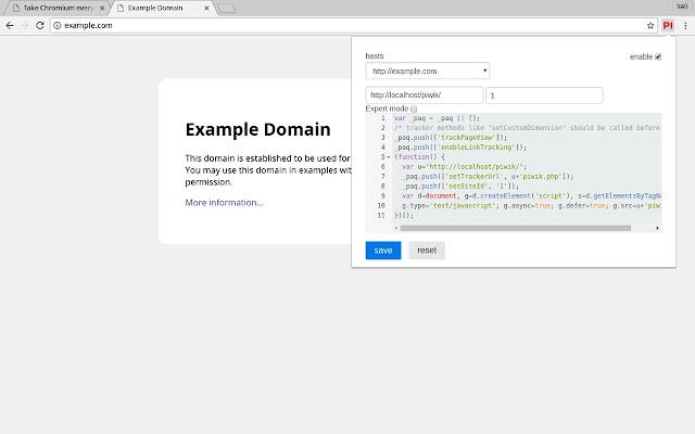 Matomo Browser Injector