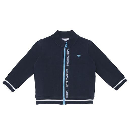 Thumbnail images of Emporio Armani Logo Zip-Up Top