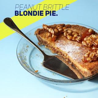 Peanut Brittle Blondie Pie