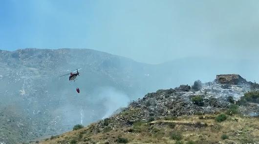 """El Infoca da por """"estabilizado"""" el incendio en Sierra Cabrera"""