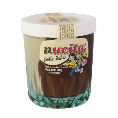 chocolate nucita vaso vidrio 200gr
