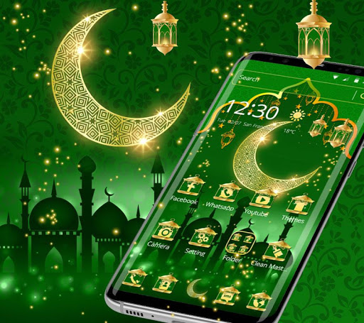 Green Moon Star Ramadan Theme 1.1.6 screenshots 1