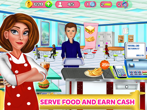 High School Cafe Cashier Girl - Kids Game  screenshots EasyGameCheats.pro 1