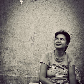Some days by Maji Shuki - Novices Only Street & Candid ( black n white, aunt, people )