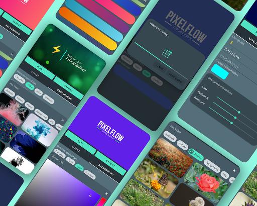 PixelFlow - Intro maker and text animator screenshot 1