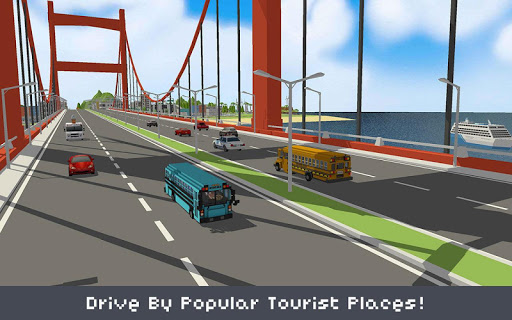 Blocky School Bus Simulator Craft 1.4 screenshots 3