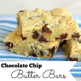 Chocolate Chip Butter Bars ~Cooking Kids~