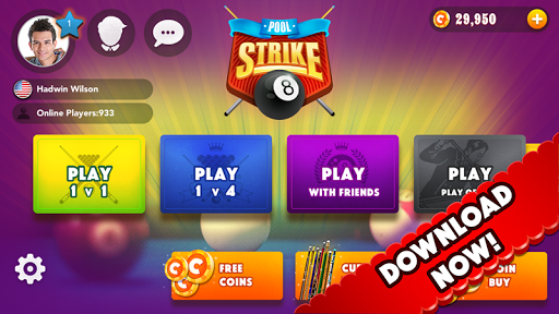 Pool Strike Online 8 ball pool billiards with Chat screenshot 7