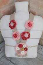 Photo: collana yo yo rosa e rosso