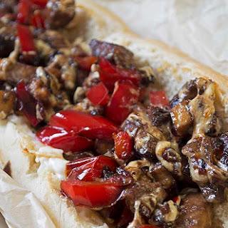 Vegan Philly Cheese Steak Sandwich.