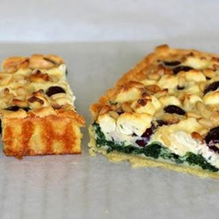 Olive, Spinach + Pine Nut Tart