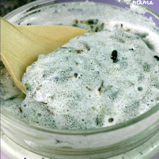 Whipped Coconut Oil Lavender Sugar Scrub.