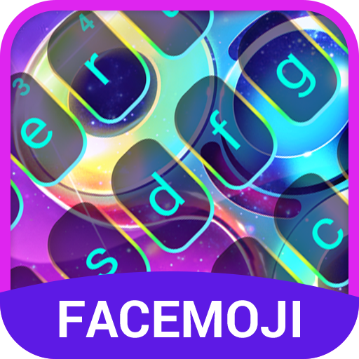 Neon Emoji Keyboard Theme for Fidget Spinner