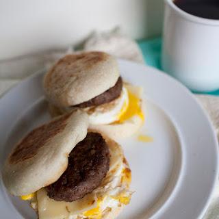 Homemade Sausage Egg McMuffins.