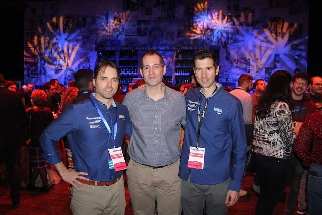 Antonio Pérez, Nebulosa Digital; Curro Verdegay, Kuver Producciones; y David García, Profesional Hosting.