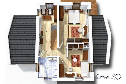 Kasjopea bez garażu B - Rzut piętra 3D
