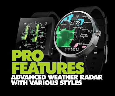 InstaWeather for Android Wear - náhled