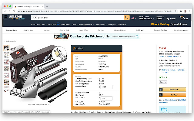 Cypherly.io Amazon Research Extension