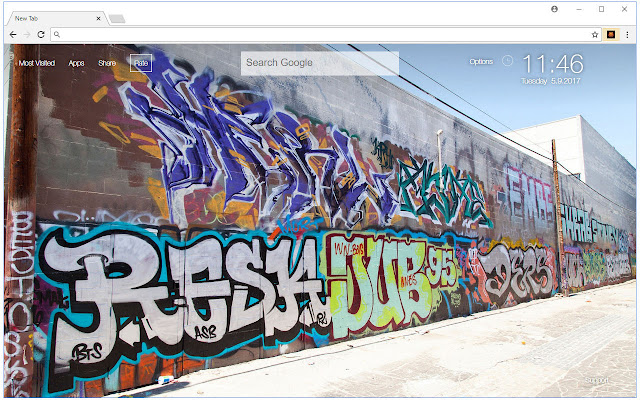 Graffiti Wallpapers HD New Tab Themes