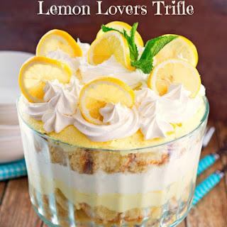 Outrageous Lemon Lovers Trifle.