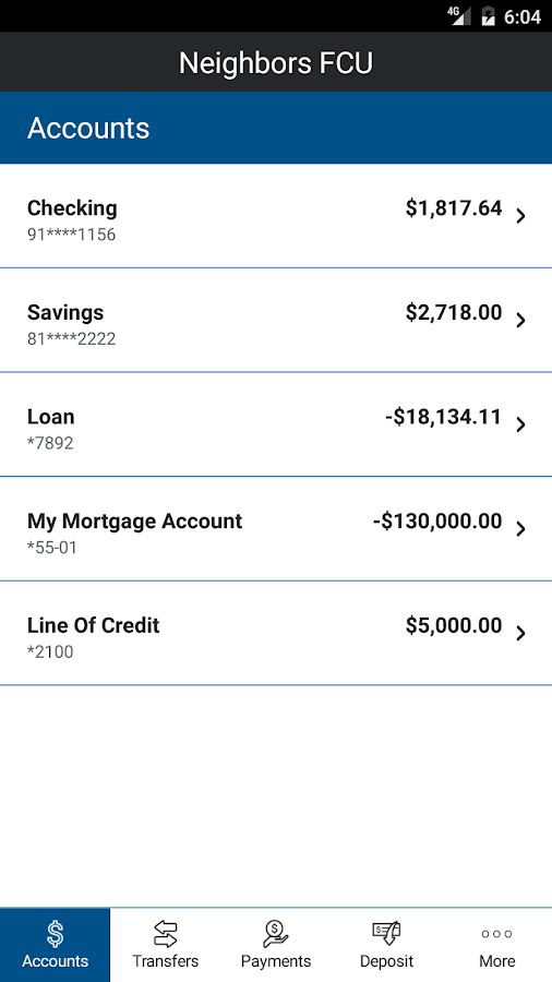 Neighbors Mobile Banking- screenshot