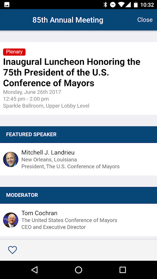 United States Conference of Mayors- screenshot