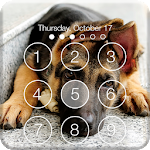 Real German Shepherd PIN HD Lock Screen Keypad