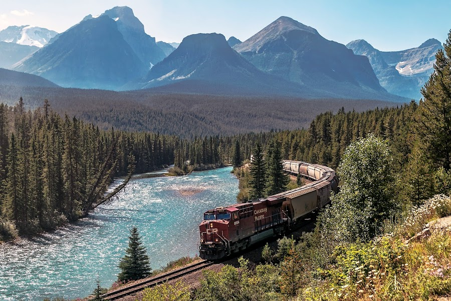 Morant's Curve  by Margie Troyer - Transportation Trains